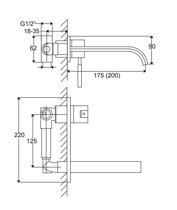 steinberg h ndvaskarmatur serie 135 1351852. Black Bedroom Furniture Sets. Home Design Ideas