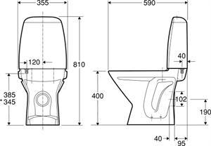 Fantastisk Ifø Sign toilet høj model hvid med P-lås Med IFØ Clean 605013200 PE97