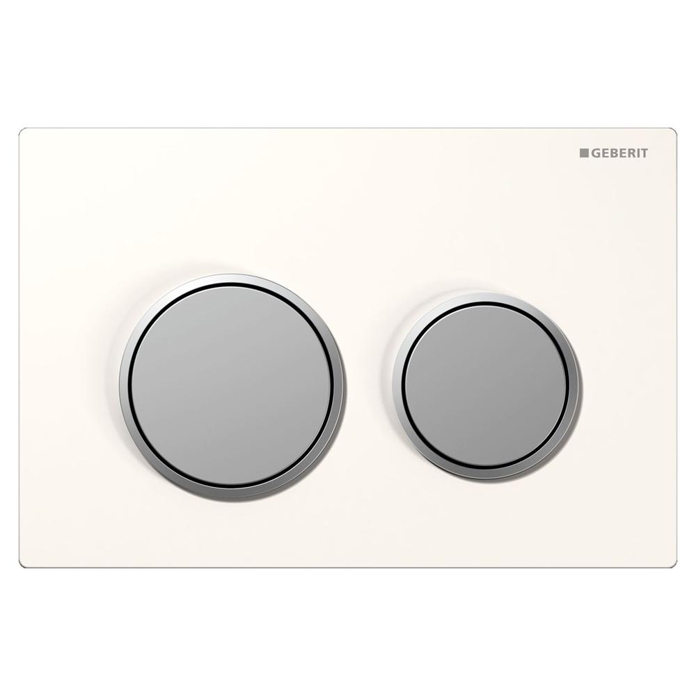 geberit betjeningsplade omega 20 hvid mat mat 617092210. Black Bedroom Furniture Sets. Home Design Ideas
