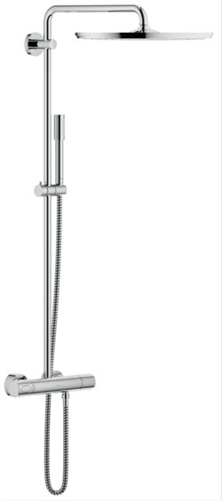 Brusesystem Grohe Rainshower med termostat i Krom 400 mm Jumbo